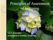 Principles of Assessment of Learning - 01