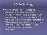 3G technology