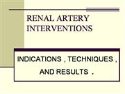 RENAL ART INT INDI  TECH  RESULTS
