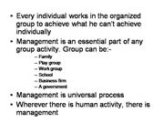 concept of management