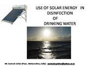Solar system for water purification
