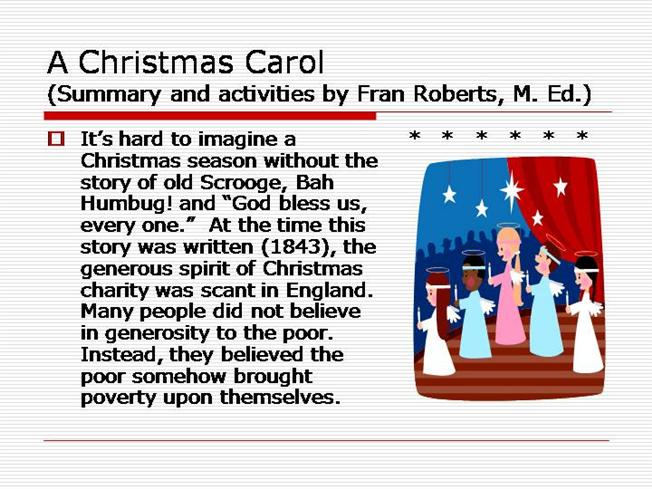 When Was A Christmas Carol Written.A Christmas Carol Authorstream