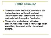 Traffic education
