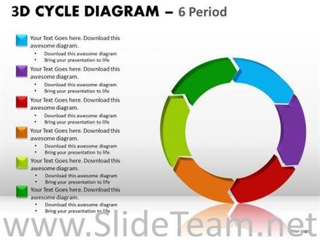 6 periods cycle diagrams powerpoint ppt slides powerpoint diagram ccuart Image collections