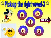 learn vowels