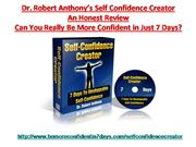 Self Confidence Creator Review | Self Confidence Creator Scam