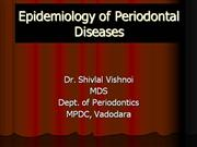 Epidemiology of Periodontal Diseases