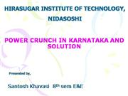 POWER CRUNCH IN KARNATAKA