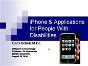 iphone application for people with disabilities
