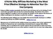 6 Points Why Affiliate Marketing is the Most