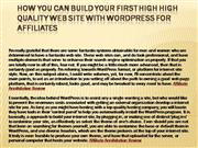 How you can Build Your First High High