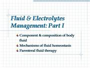 fluid & electrolytes management