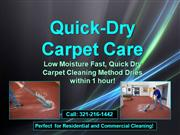 quick-dry carpet care 321-216-1442 orlando