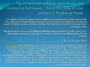 Top 2 Profitable Affiliate Advertising and marketing Techniques
