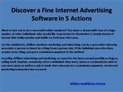 Discover a Fine Internet Advertising Software in 5