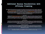 Extra Revenue Chances With Affiliate Advertising and marketing