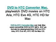 How to sync HTC (HTC Aria, HTC Evo 4G, HTC HD, etc) with Mac?