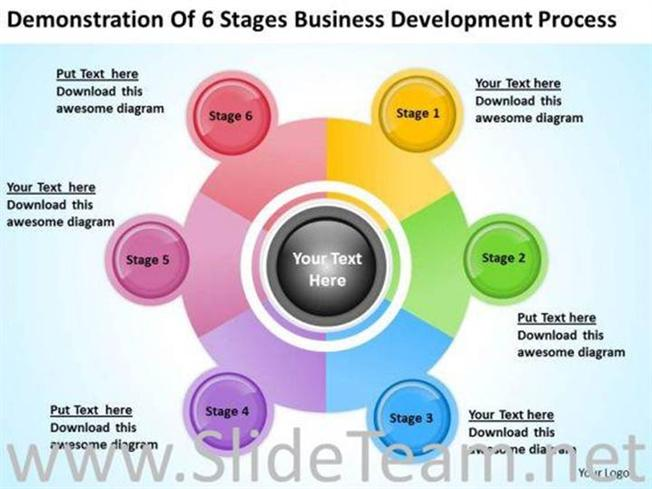 6 stages business development process ppt slides powerpoint diagram cheaphphosting
