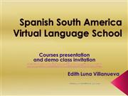 Spanish South America courses description