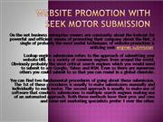 Website Promotion With Seek Motor Submission