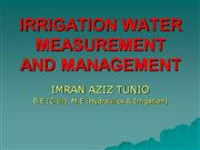 irrigation water measurement and management
