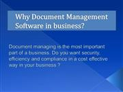 Why Document Management Software in business?