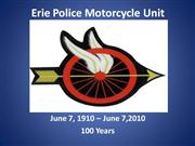Erie Police Motorcycle Unit Presentation