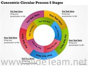 BUSINESS CYCLE CONCENTRIC CIRCULAR PROCESS 5 STAGES