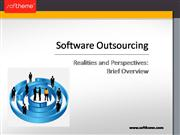 Software Outsourcing. Realities And Perspectives: Brief