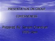 PRESENTATION ON GROUP COHESIVENESS