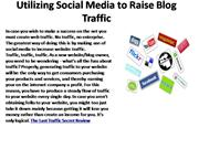 Utilizing Social Media to Raise Blog Traffic