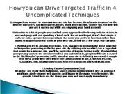 How you can Drive Targeted Traffic in 4