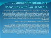 Customer Retention in 4 Measures With Social Media