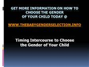 How To Choose The Gender Of Your Baby