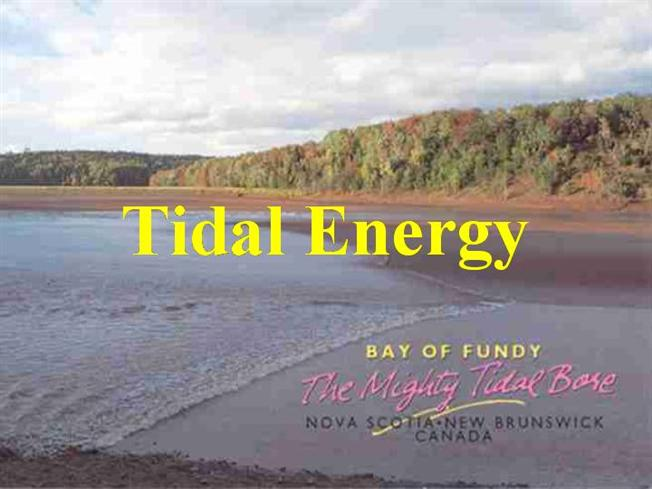 Tidal energy 2 authorstream sciox Image collections