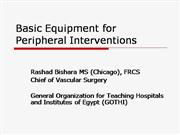 Basic Equipment for Peripheral Interventions