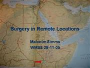 Surgery in Remote Locations
