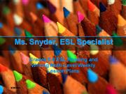 ESL Middle School Lesson Plan