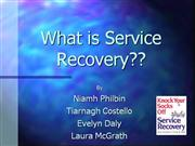 Service Recovery - service guaranties