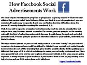 How Facebook Social Advertisements Work