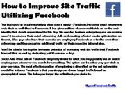 How to Improve Site Traffic Utilizing Facebook