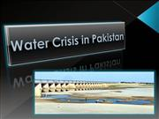 Water Crisis in Pakistan