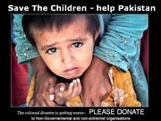HELP to save the Children of PAKISTAN