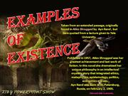 Examples of Existence