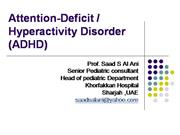 attentiondefect hyperactive disorder