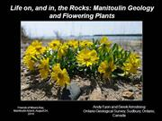 Manitoulin Island Geology and Plant Communities