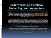 Understanding Facebook Marketing and Youngsters