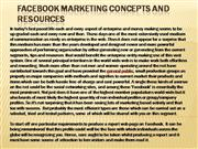 2. Facebook Marketing Concepts and Resources