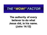 The_WOW_Factor