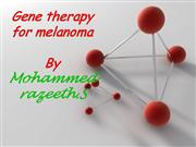 gene therapy in melanoma